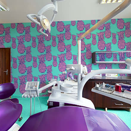 Purple Pineapple: tropical Study/office by Pixers