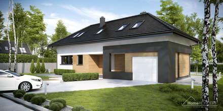 Projekt domu HomeKONCEPT-15- wizualizacja: styl nowoczesne, w kategorii Domy zaprojektowany przez HomeKONCEPT | Projekty Domów Nowoczesnych