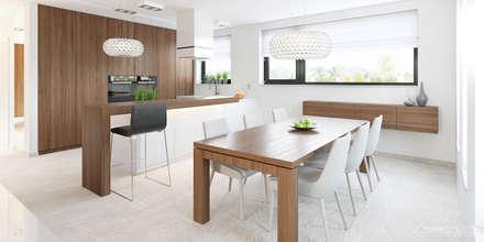 Projekt domu HomeKONCEPT-15- wnętrze: styl , w kategorii Jadalnia zaprojektowany przez HomeKONCEPT | Projekty Domów Nowoczesnych