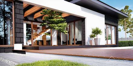 Projekt domu HomeKONCEPT-13- wizualizacje: styl nowoczesne, w kategorii Domy zaprojektowany przez HomeKONCEPT | Projekty Domów Nowoczesnych