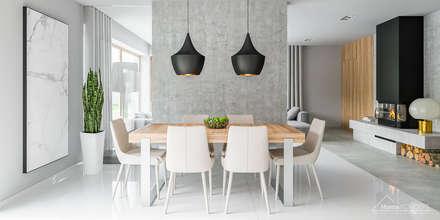 Projekt domu HomeKONCEPT-11- wnętrze: styl , w kategorii Jadalnia zaprojektowany przez HomeKONCEPT | Projekty Domów Nowoczesnych