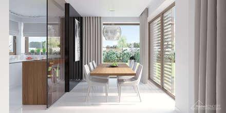 Projekt domu HomeKONCEPT-07: styl , w kategorii Jadalnia zaprojektowany przez HomeKONCEPT | Projekty Domów Nowoczesnych
