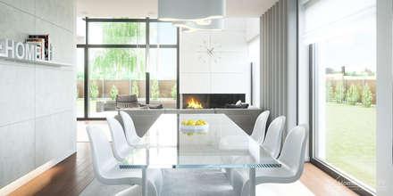 Projekt domu HomeKONCEPT-02: styl , w kategorii Jadalnia zaprojektowany przez HomeKONCEPT | Projekty Domów Nowoczesnych