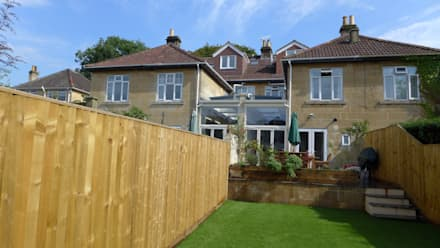 Glazed side return extensions in Bath: modern Conservatory by Style Within