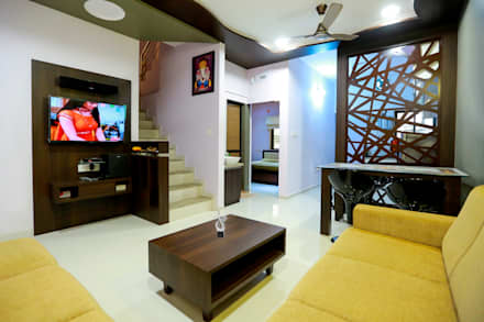 TV Panel Modern Living Room By ZEAL Arch Designs