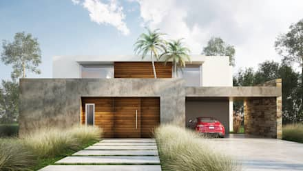 Casas ideas im genes y decoraci n homify for Casa minimalista 100 metros