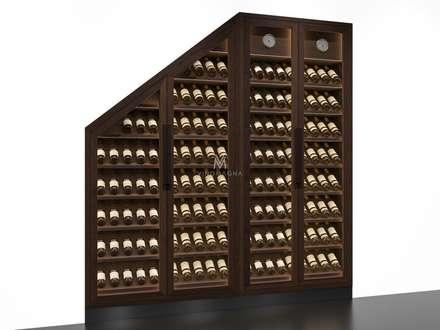 Custom Under Stairs Wine Display: Modern Wine Cellar By Vinomagna   Bespoke Wine  Cellars
