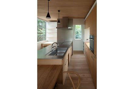 スキップフロアの家: 株式会社Fit建築設計事務所が手掛けたキッチンです。
