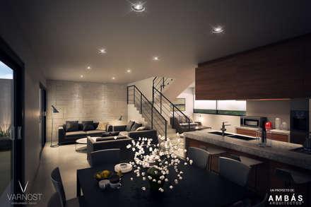 Sala y Comedor: Comedores de estilo moderno por Ambás Arquitectos