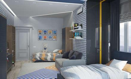 Квартира в Краснодаре - Изысканность стиля Детская сыновей: colonial Corridor, hallway & stairs by СТУДИЯ   'ДА' ДАРЬИ АРХИПОВОЙ