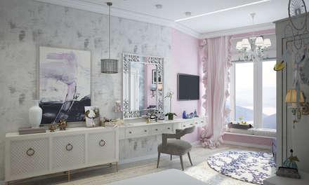 Квартира в Краснодаре - Изысканность стиля Детская дочки: classic Bathroom by СТУДИЯ   'ДА' ДАРЬИ АРХИПОВОЙ