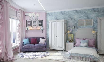 Квартира в Краснодаре - Изысканность стиля Детская дочки: classic Bedroom by СТУДИЯ   'ДА' ДАРЬИ АРХИПОВОЙ
