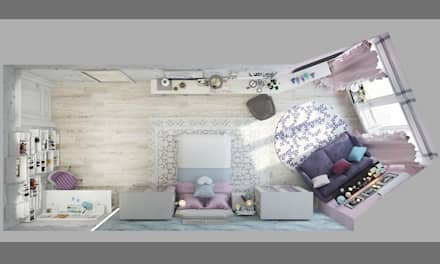 Квартира в Краснодаре - Изысканность стиля Детская дочки: classic Living room by СТУДИЯ   'ДА' ДАРЬИ АРХИПОВОЙ