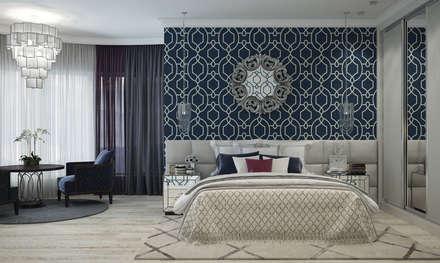 Квартира в Краснодаре - Изысканность стиля Спальня: classic Bedroom by СТУДИЯ   'ДА' ДАРЬИ АРХИПОВОЙ