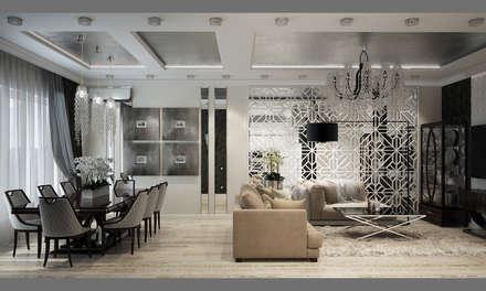Квартира в Краснодаре - Изысканность стиля Гостиная-вариант 2: classic Corridor, hallway & stairs by СТУДИЯ   'ДА' ДАРЬИ АРХИПОВОЙ
