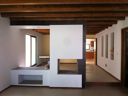 Casa AG: Salas de estilo moderno por GRUPO ESGO