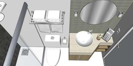 Banheiro: Banheiros modernos por Studio4Interiores