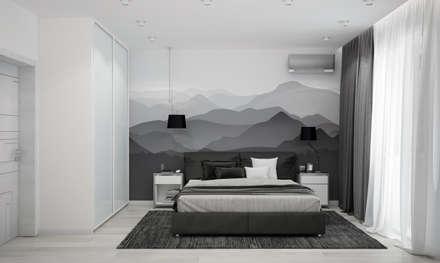 """Спальня """"Mountains"""" : modern Bathroom by СТУДИЯ   'ДА' ДАРЬИ АРХИПОВОЙ"""