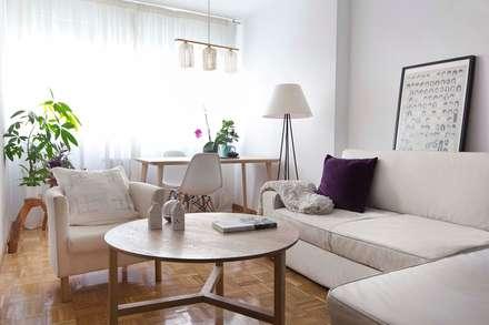 Apartamento en Madrid: Salones de estilo minimalista de La Espaciera