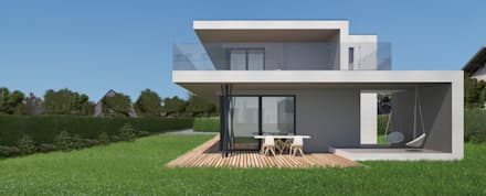 HAUS LGR: moderne Häuser von AL ARCHITEKT