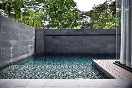 CH邸: Sen's Photographyたてもの写真工房すえひろが手掛けたプールです。