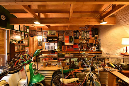 landhausstil Garage & Schuppen von Sen's Photographyたてもの写真工房すえひろ