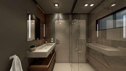 APARTAMENTO JS: Baños de estilo moderno por NOGARQ C.A.