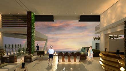 ESTES HOTEL: Salas / recibidores de estilo moderno por NOGARQ C.A.