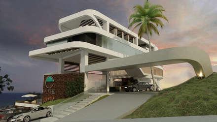 ESTES HOTEL: Casas de estilo moderno por NOGARQ C.A.