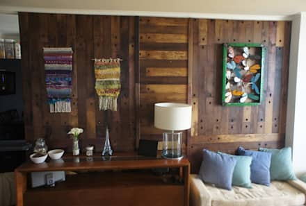 Revestimiento de duelas: Paredes y pisos de estilo colonial por Ignisterra