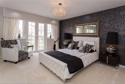 Modern Monochrome: classic Bedroom by Graeme Fuller Design Ltd