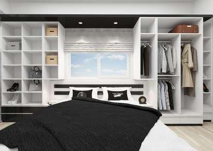 PRATIKIZ Mimarlık/ Architecture – BM, Yatak Odası: minimal tarz tarz Yatak Odası
