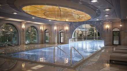 Частный жилой дом: Бассейн в . Автор – ARCHLINE  ARCHITECTURE & DESIGN