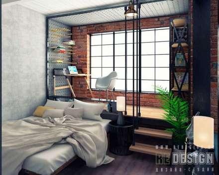 Phòng ngủ by Студия дизайна интерьера 'REDESIGN'