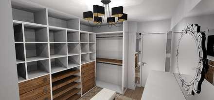 REFORMA RESIDÊNCIA ALPHAVILLE: Closets modernos por Danielle Barbosa DECOR|DESIGN