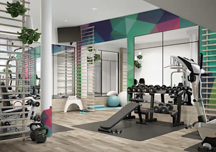Lost in colors: modern Gym by Pixers