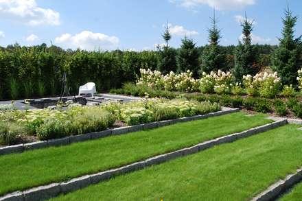 Katowice ogród: styl , w kategorii Ogród zaprojektowany przez MUGO OGRODY
