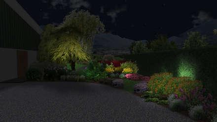 Jardin sinueux: Jardin de style de style Moderne par Anthemis Bureau d'Etude Paysage