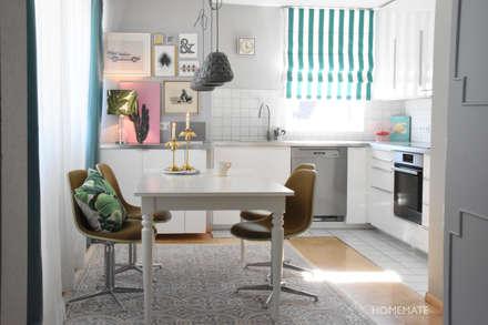 Essbereich mit Küche: tropische Esszimmer von Homemate GmbH