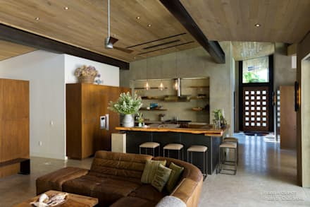 Inland Architects - The Orchard House - Interior 5: moderne Wohnzimmer von Chibi Moku