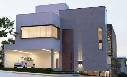 Residência FR, Uberlândia - Projeto THEROOM ARQUITETURA: Casas modernas por THEROOM ARQUITETURA E DESIGN