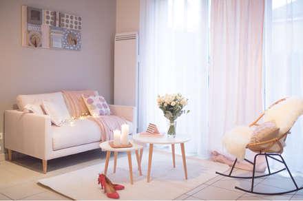 Aménagement et décoration d'un appartement: Salon de style de style Scandinave par DLS Création