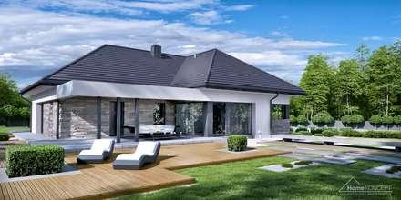 Projekt domu HomeKONCEPT-42: styl nowoczesne, w kategorii Domy zaprojektowany przez HomeKONCEPT | Projekty Domów Nowoczesnych