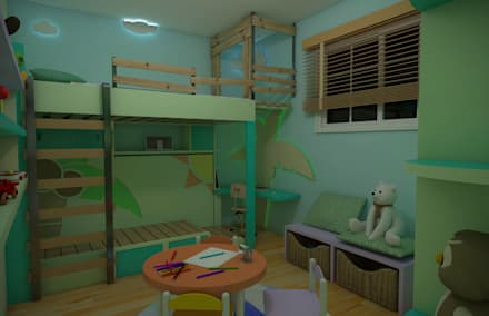 tropical Nursery/kid's room by Rbritointeriorismo