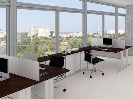 Oficina abierta: Oficinas de estilo minimalista por Officinca