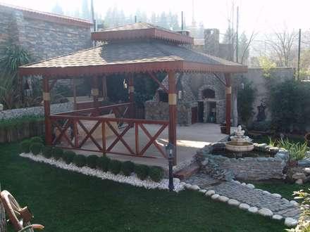 İNDEKS YAPI TASARIM – ahşap uygulamalar: kırsal tarz tarz Bahçe