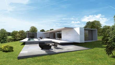Maison moderne: Maisons de style de style Moderne par ARRIVETZ & BELLE