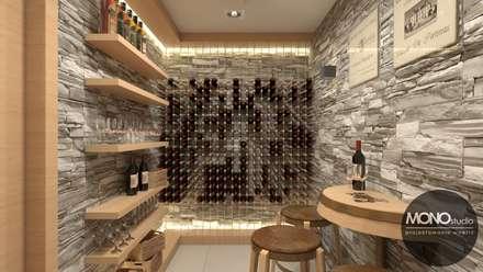 modern Wine cellar by MONOstudio