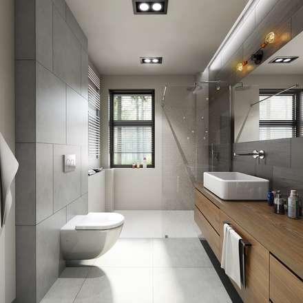 łazienka : styl , w kategorii Łazienka zaprojektowany przez Pracownia Wielkie Rzeczy