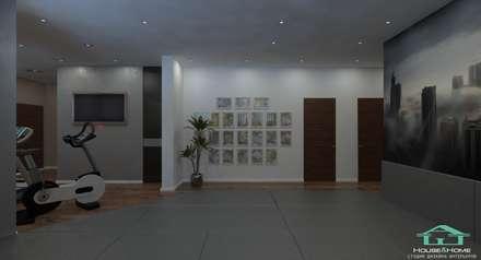 Варшавское шоссе 310 м2: Тренажерные комнаты в . Автор – HOUSE&HOME